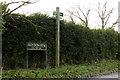 TM1079 : Roydon Fen sign & Footpath sign by Geographer