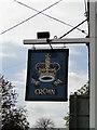 TM0759 : Hanging sign for 'The Crown' at Stowupland by Adrian S Pye