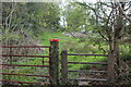 ST1899 : Stile next to gate on track, Grwhay by M J Roscoe
