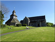 SO3958 : The belltower and church in Pembridge, Herefordshire by Jeremy Bolwell