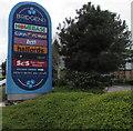 SS9178 : Bridgend Retail Park nameboard by Jaggery