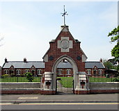 ST3050 : Entrance to Ellen's Cottages, 59-71 Berrow Road, Burnham-on-Sea by Jaggery