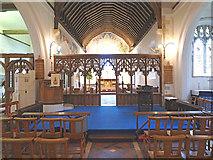 TR0149 : St Cosmas & St Damian, Challock - East end by John Salmon