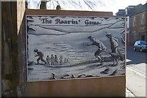 NS4927 : Roarin' Game mural, Mauchline by Richard Webb