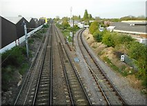 TL4658 : Railway lines from Coldhams Lane by Richard Sutcliffe