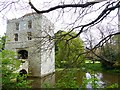 TQ5509 : Michelham Priory - Gatehouse tower & moat by Rob Farrow