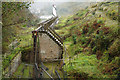 SC4385 : Rod viaduct and wheel, Laxey by Stephen McKay