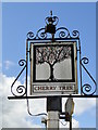 TG0702 : Hanging sign of 'The Cherry Tree' at Wicklewood by Adrian S Pye