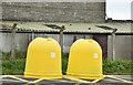 J4058 : Recycling bins, Saintfield (April 2017) by Albert Bridge