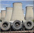 SK4929 : Scrap wheels and cooling towers by David Lally