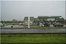 ST4718 : BP filling station, A303 by N Chadwick
