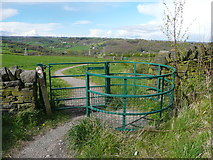 SE1025 : Gate on new footpath from Beacon Hill to Shibden Hall by Humphrey Bolton