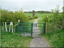 SE1025 : Gate on the new path from Beacon Hill to Shibden Hall, Halifax by Humphrey Bolton