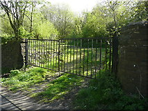 SE1025 : Gate into Cunnery Wood Nature Reserve, Halifax by Humphrey Bolton