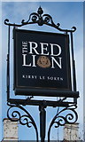 TM2222 : Sign for the Red Lion, Kirby-le-Soken by JThomas