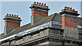J2664 : Chimneys, the Wallace House, Lisburn (April 2017) by Albert Bridge