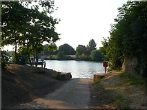 TQ1667 : Slipway at Thames Ditton by Nigel Mykura