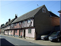 TL8663 : Half timbered houses on Southgate Street, Bury St.Edmunds  by JThomas