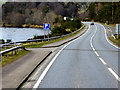 NJ0326 : A95 Running Alongside the River Spey at Grantown-on-Spey by David Dixon