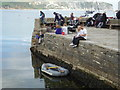 SZ0378 : Crabbing and chilling - Swanage by Chris Allen