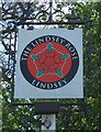 TL9845 : Sign for the Lindsey Rose public house by JThomas