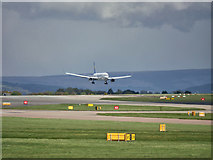 SJ8184 : Boeing 767 Arriving at Manchester by David Dixon