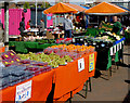 SO9198 : Fruit and veg in Wolverhampton Market by Roger  Kidd