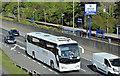 J3775 : Logans coach, Sydenham bypass, Belfast (May 2017) by Albert Bridge