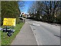 ST3091 : Newport Road closed ahead, Llantarnam, Cwmbran  by Jaggery