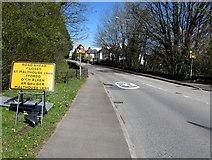 ST3091 : Newport Road closed ahead, Llantarnam, Cwmbran  by Jaggery