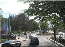 J5081 : Roundabout on Abbey Street, Bangor by Eric Jones