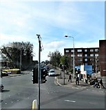 J5081 : Security camera at the junction of Abbey Street and Brunswick Road, Bangor by Eric Jones