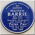 TQ3082 : Blue Plaque to Sir James Barrie by Anne Burgess