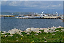 SY6774 : A corner of Portland Harbour, towards the National Sailing Academy by David Martin