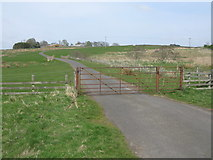 NY9191 : Gate across a minor road at Monkridge by G Laird