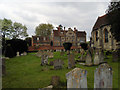 SU8586 : Churchyard and Rectory, All Saints Church, Marlow by Paul Gillett