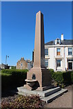 NS3321 : Memorial to Primrose William Kennedy Provost of Ayr by Billy McCrorie