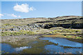 NY8634 : Shallow pool at Harthope Head Quarry by Trevor Littlewood