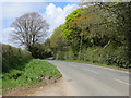 SX0555 : Bodelva Road at the entrance to Trecarne View by Peter Wood