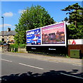 SO8305 : Clear Channel advertising boards, Cainscross Road, Stroud by Jaggery
