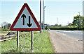 J2486 : Two-way traffic sign, Ballymartin, Templepatrick (May 2017) by Albert Bridge