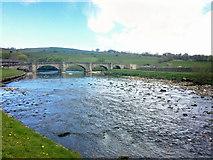 SE0361 : The River Wharfe at Burnsall by Steve  Fareham