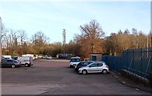 NS4464 : Parking for industrial unit by Alan Reid