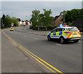 ST3090 : Emergency police cars, Malpas Road, Newport by Jaggery