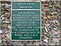 TF9839 : Information Plaque, Binham Priory, Norfolk by Christine Matthews