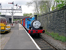 SD8010 : A Famous Blue Engine Arrives at Bolton Street Station by David Dixon