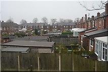 SD7908 : Back gardens, Rigby Avenue by N Chadwick