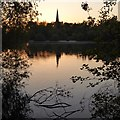 SK5234 : Sunset view towards Attenborough church by David Lally
