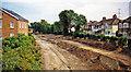 TQ2768 : Croydon Tramlink under construction at site of Mitcham station, 1998 by Ben Brooksbank