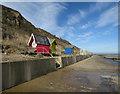 TG2540 : Rearranged beach huts, Overstrand by Hugh Venables